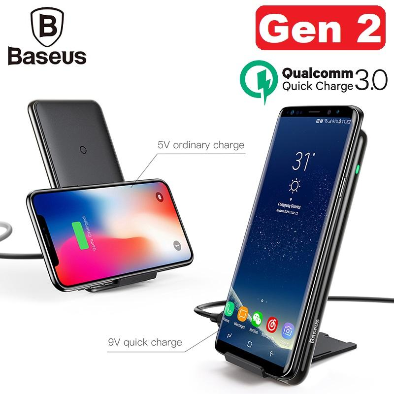 Where Can You Buy Baseus 3 Coils Multifunctional Wireless Charger Gen 2 For Iphone X 8 Plus Samsung Note 8 S8 S7 Edge Phone Charger Qi Wireless Charging Docking Dock Station