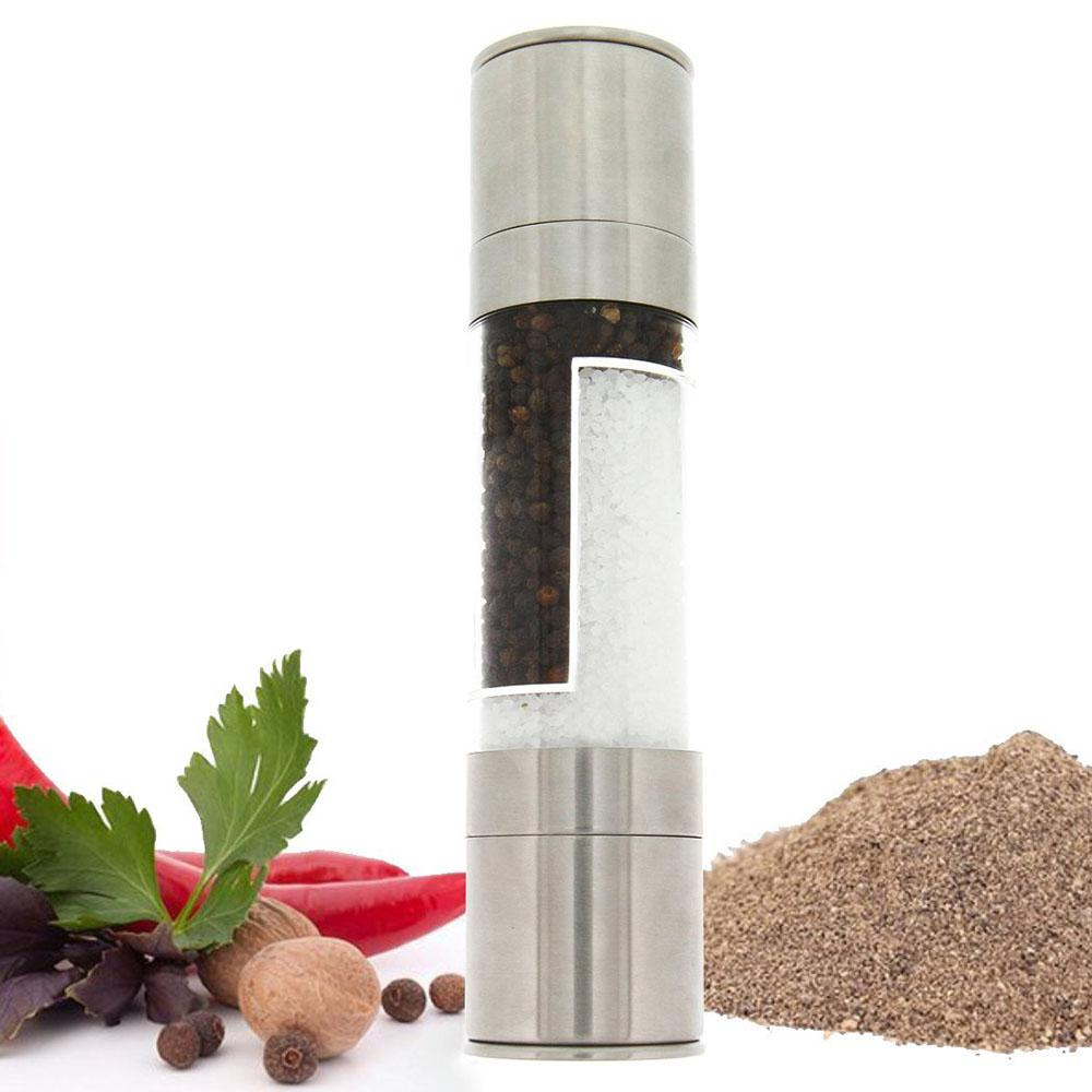 Who Sells Adjustable Stainless Steel Salt And Pepper Mill Ceramic Grinder Spice Containers Bottle Kitchen Gadget Barbecue Bbq Silver Intl Ready Stock