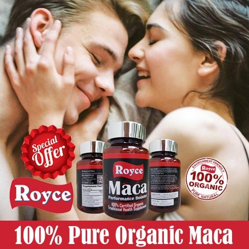 Pure Maca Insist On Royce S 100 Organic Peruvian Magic With No Fillers 60 Capsules Sale