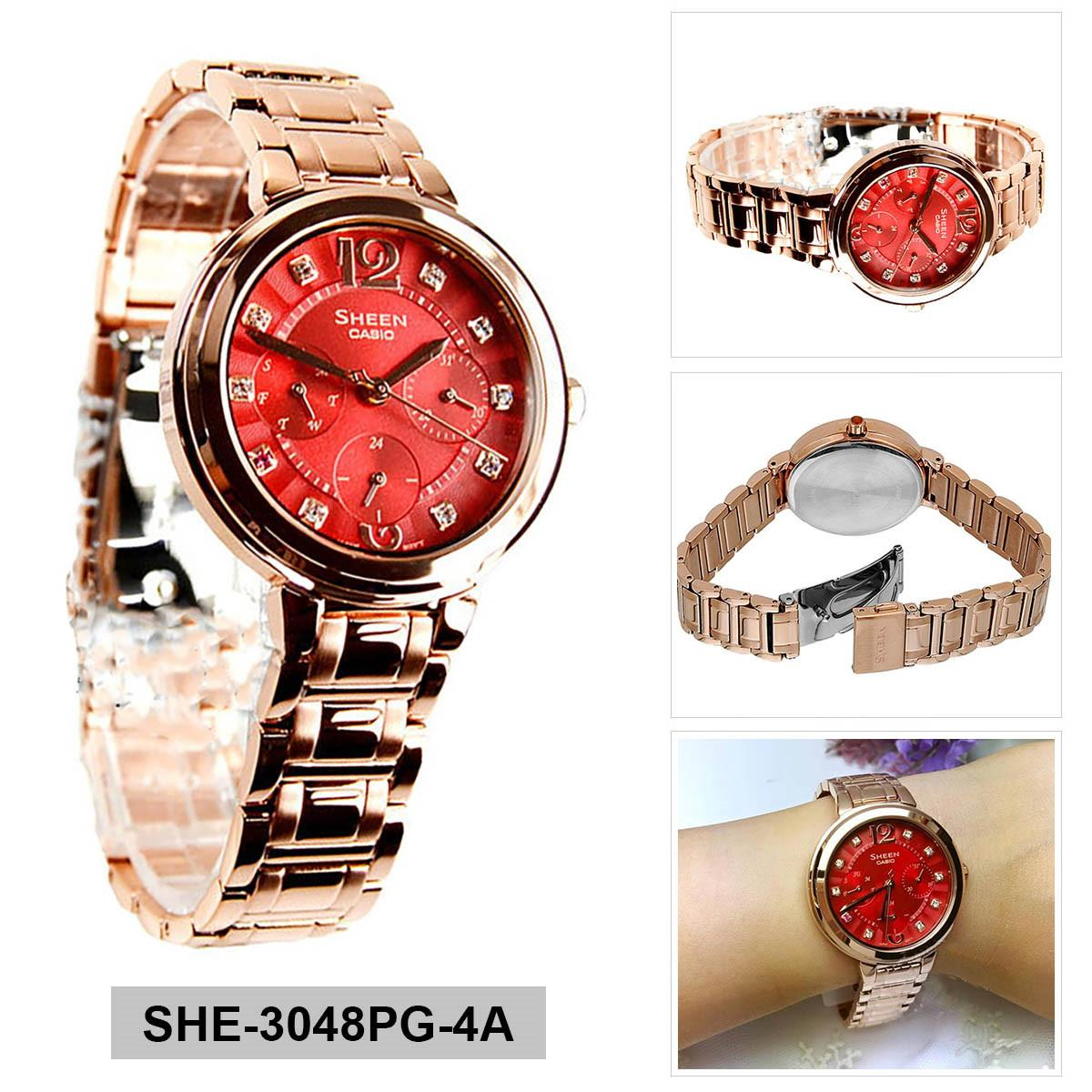 Casio Watch Standard Gold Stainless Steel Case Jam Tangan General Ladies Strap Ltp 1095q 9a Specifications Of Sheen Rose Bracelet