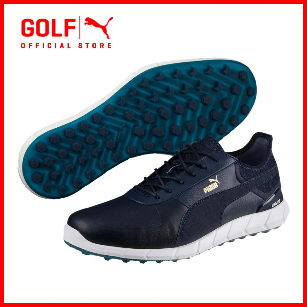 Puma Golf Men Ignite Spikeless Lux Footwear Footwear Peacoat Nrgy Yellow Price Comparison