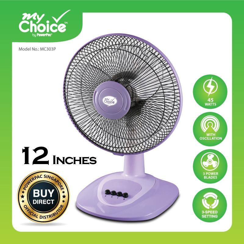 Buy Cheap My Choice Powerpac 12 Inches Desk Fan With Oscillation Mc303