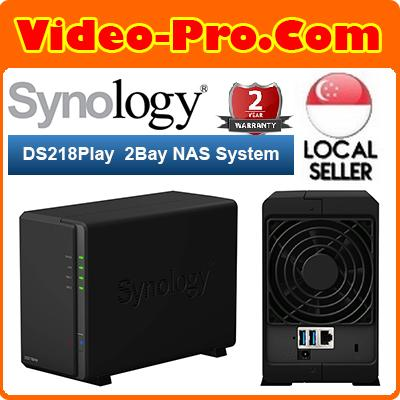 Synology DS218Play 2Bay DiskStation NAS 4K Video Transcoding Singapore