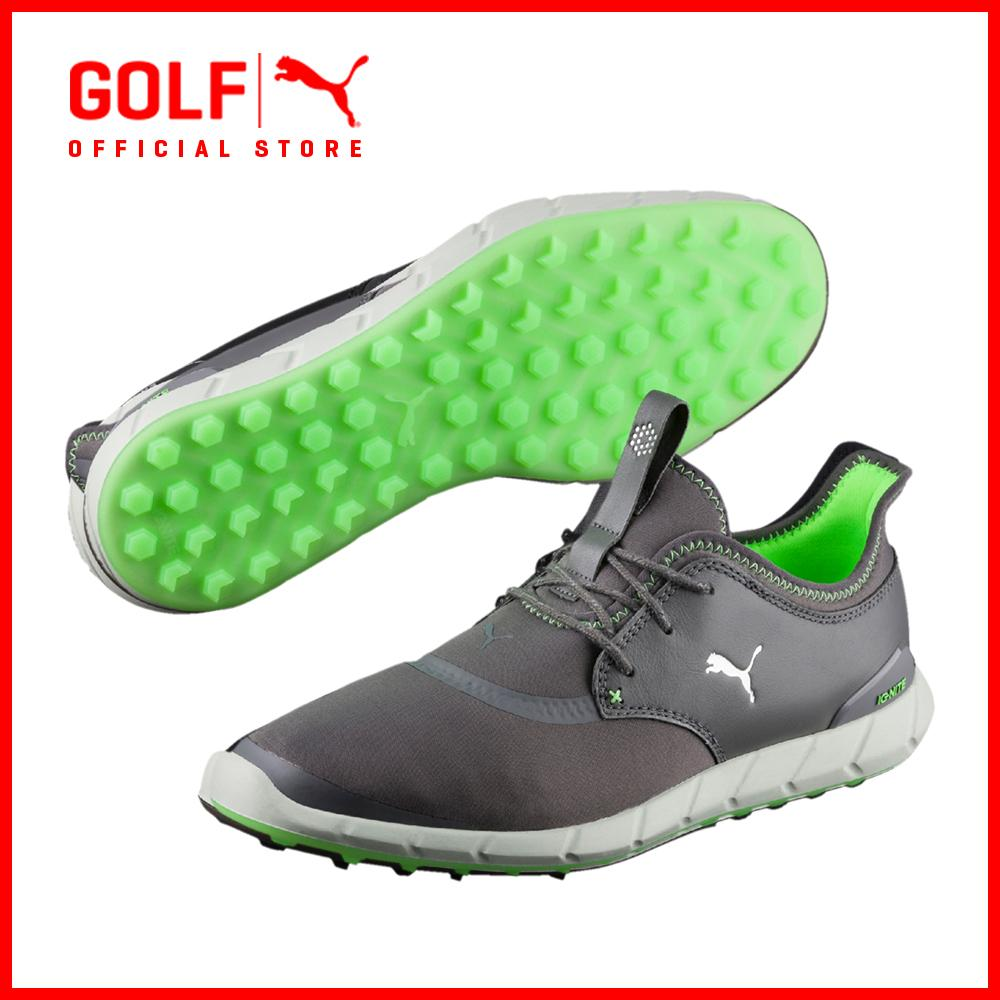 Discount Puma Golf Men Ignite Spikeless Sport Footwear Smoked Pearl Puma Silver Green Gecko Puma Golf Singapore