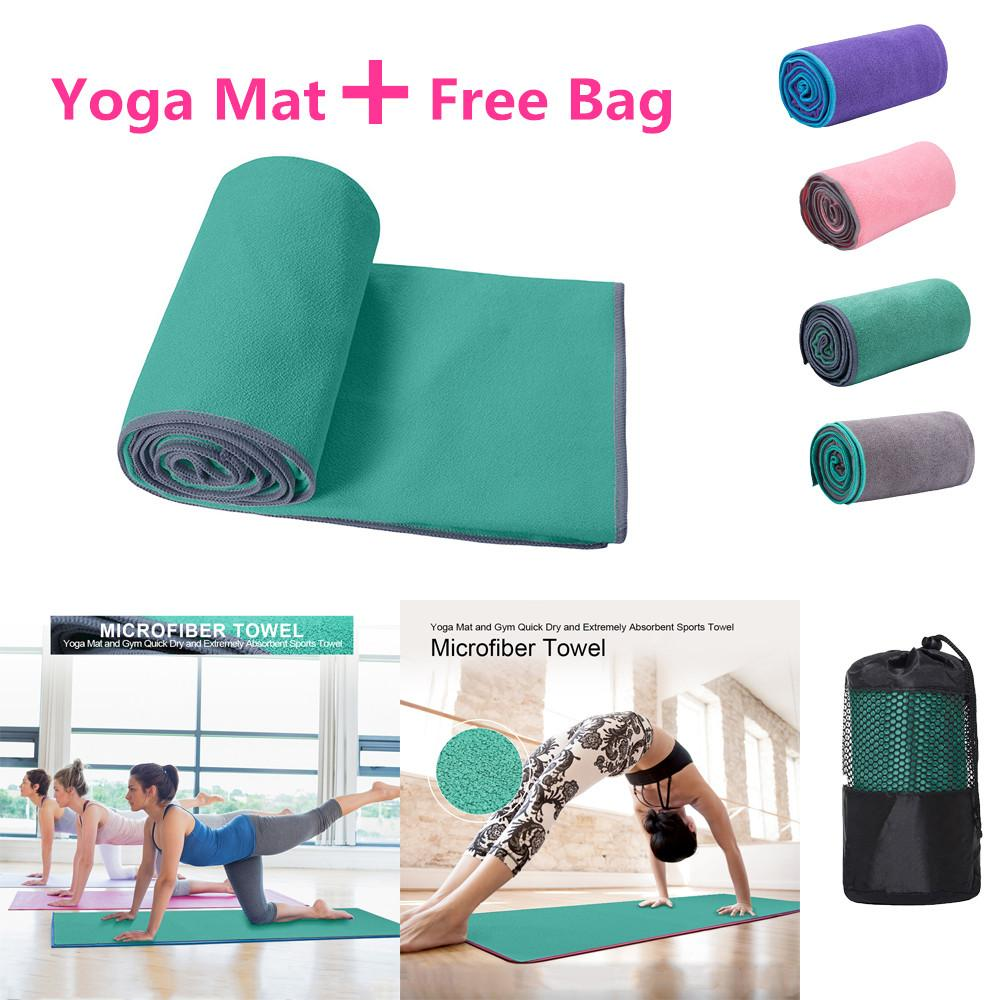 Retail Price Professional Non Slip Yoga Mat Blanket Fitness Sports Cover Mat Microfiber Towel Intl