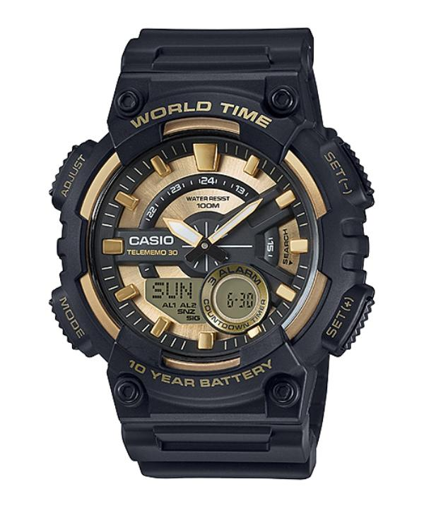 Casio Analog Digital Watch Aeq 110Bw 9Avdf Best Buy