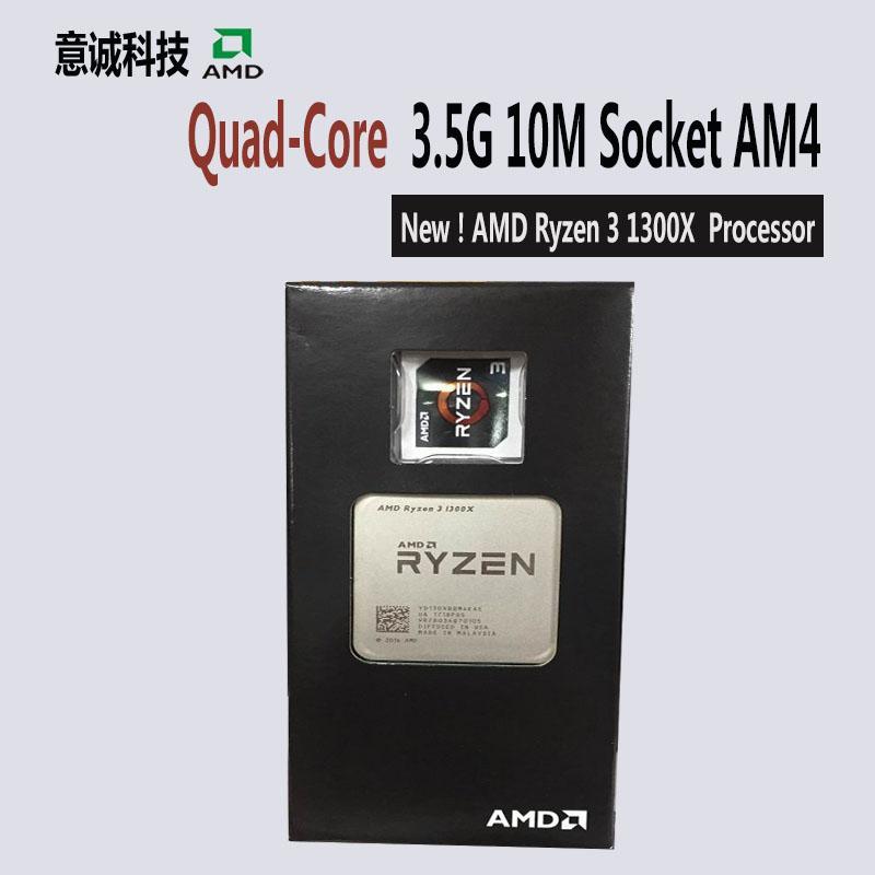 AMD Ryzen R3 1300X Prosesor CPU Quad-Core Socket AM4 3.5 GHz DP Mulai dari 65 W 10 MB Cache 14nm DDR4 desktop YD130XBBM4KAE-Intl