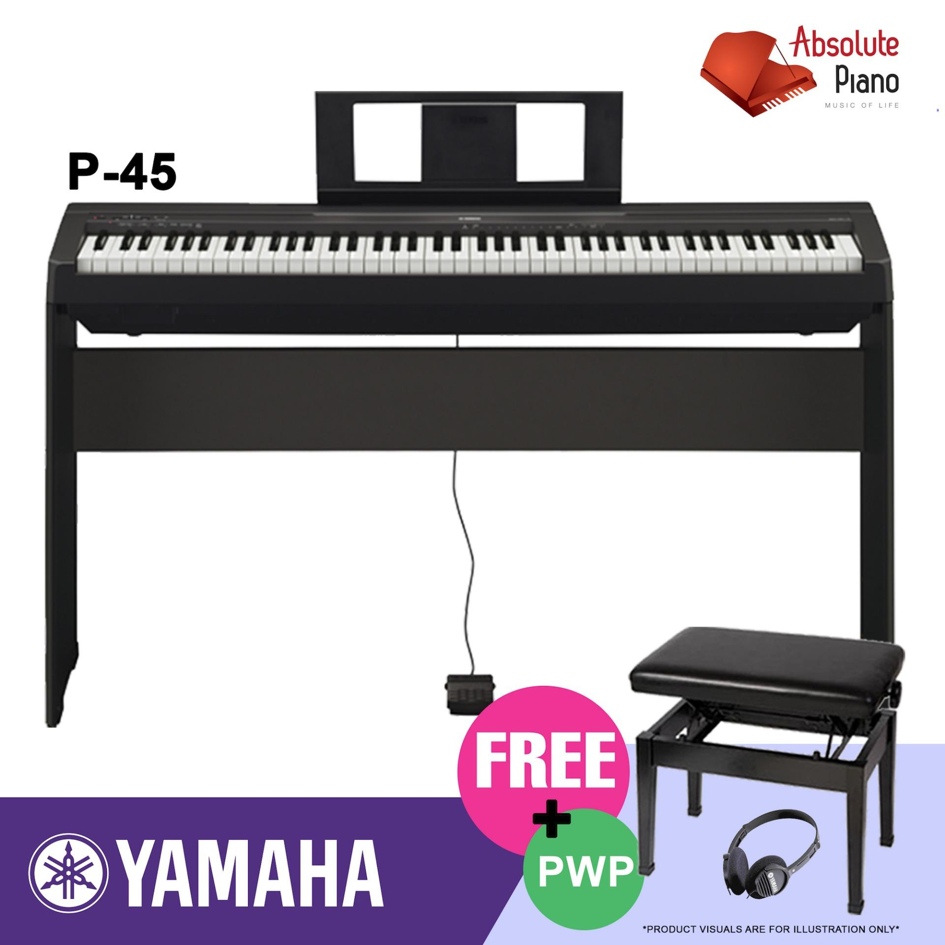 Buy Yamaha P 45 Digital Piano Black With Stand Yamaha