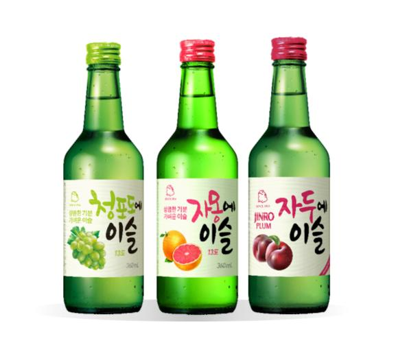 Flavored Jinro Flavored Soju Set (green Grape + Grapefruit + Plum) By Geonbae.