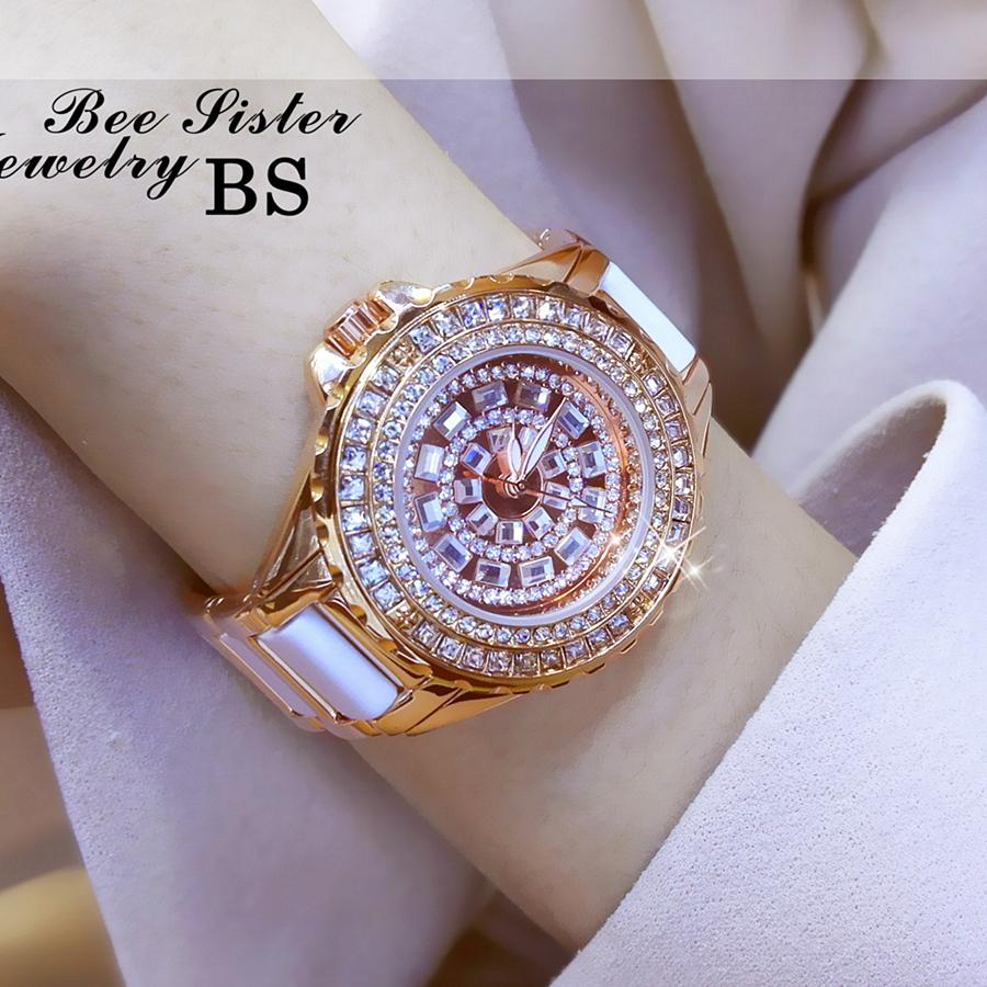2019 New Style Top Grade Chained List Brand women watch watches Bracelet Full of Crystals Luxury