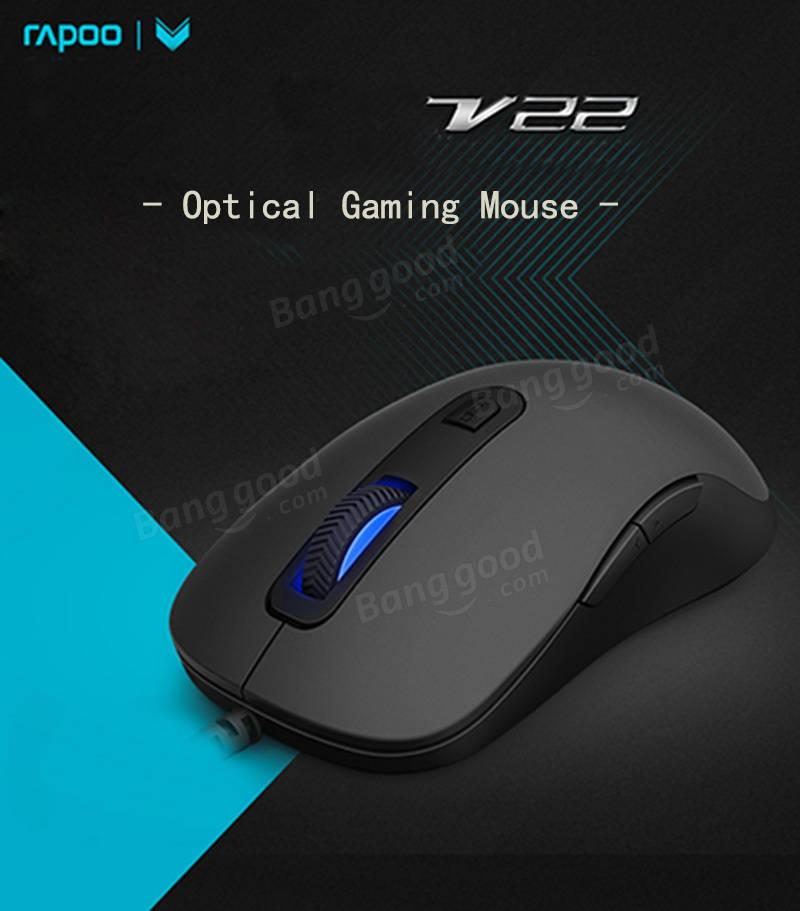 5154513614d Rapoo V22 3000DPI 7 Buttons Programmable Optical Gaming Mouse Backlight USB  Wired Mouse