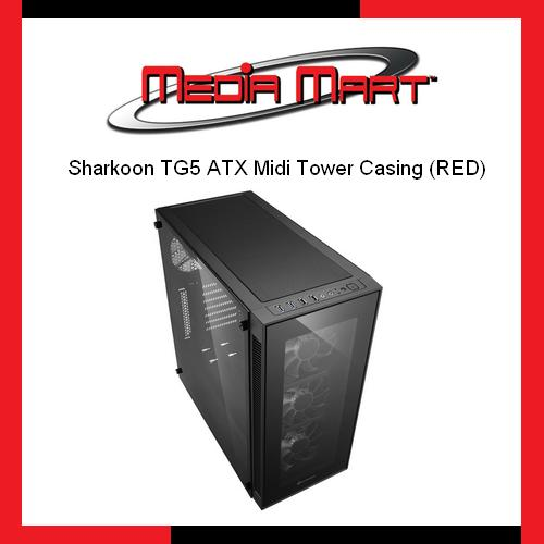 Sharkoon Tg5 Atx Midi Tower Casing Red Compare Prices