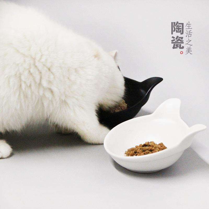 Where To Buy Teddy Ceramic Cat Sloping Bowl