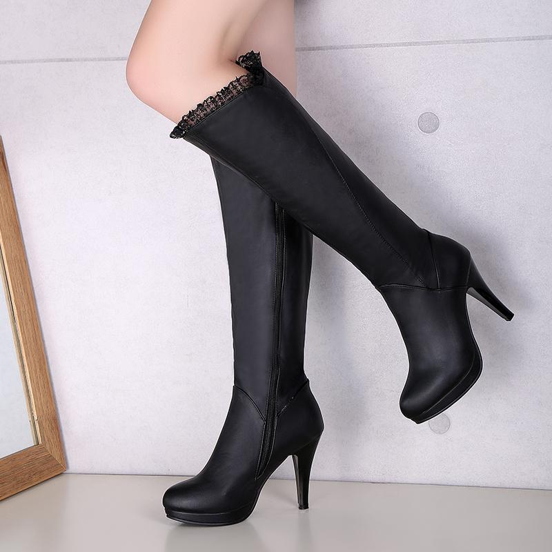 Where To Shop For S*xy White Side Zipper Boots Leather Boot