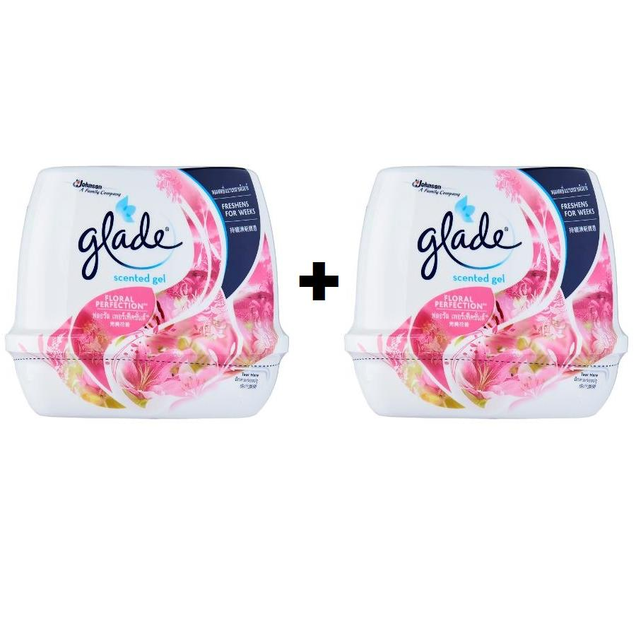 Glade Scented Gel Air Fresheners 180g Floral Perfection Set of 2