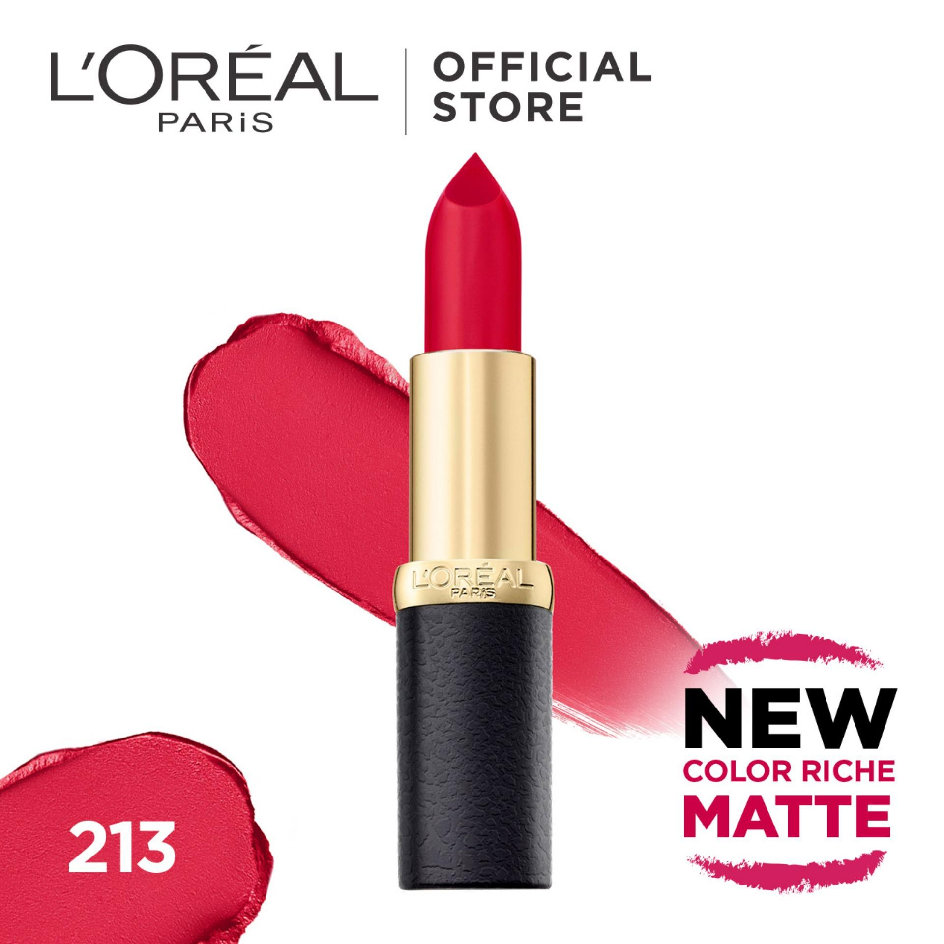Price L Oreal Paris Color Riche Matte Lipsticks Online Singapore