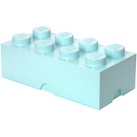 LEGO Storage Brick 8 (Aqua Light Blue)