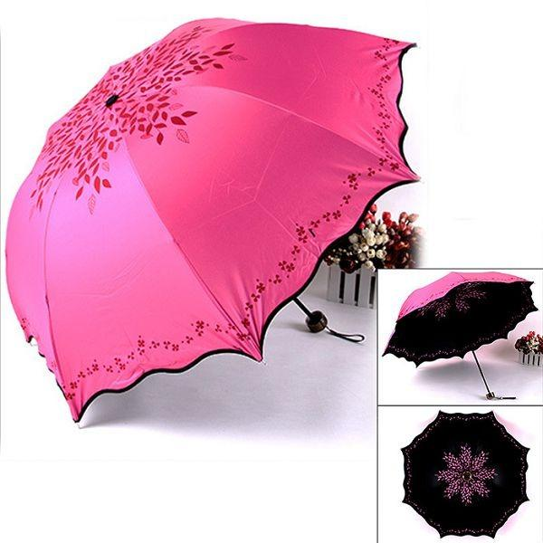 Sale 3 Foldable Automatic Rain Umbrella Sun Uv Protection And Waterproof Umbrella 38Cm Super Absorbent Microfiber Umbrella Cover Sheath Navy Blue Intl Oem Wholesaler