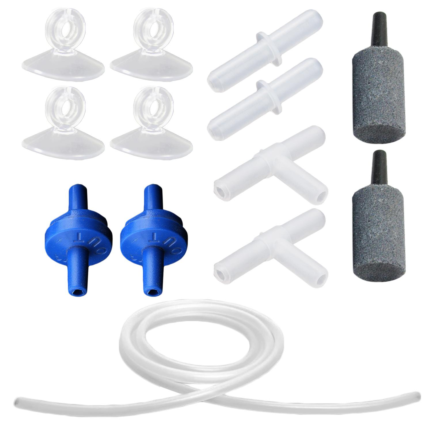 13 PCS Fish Tank Aquarium Air Pump Accessories Set Including Airline Tubing Bubble Release Air Stones