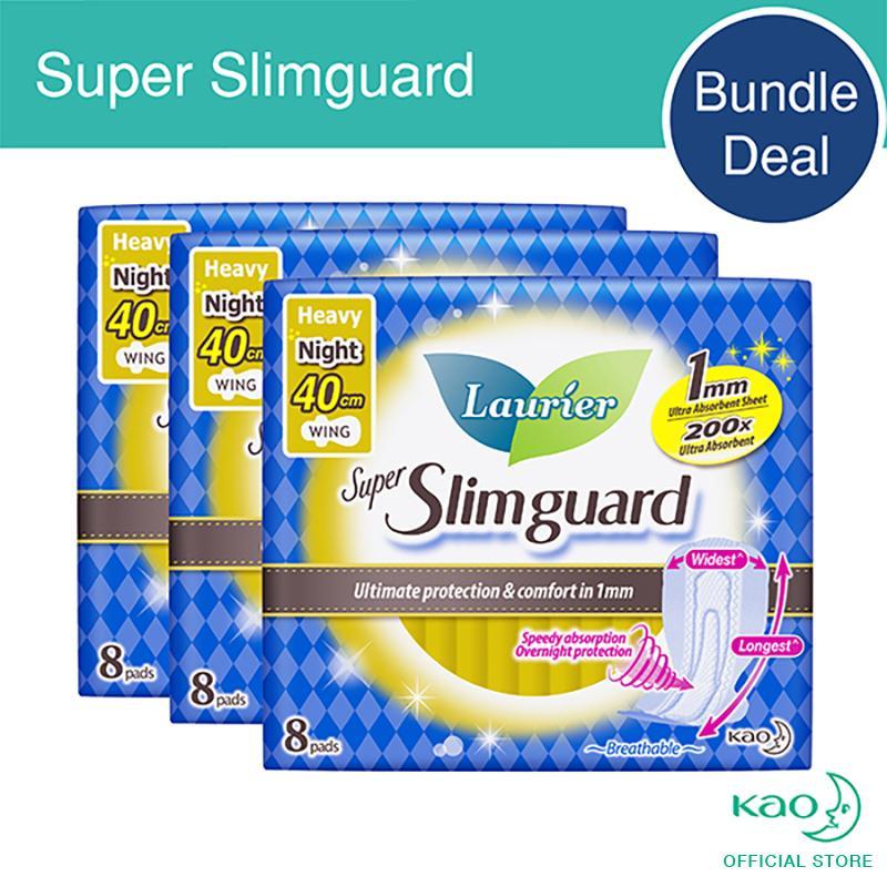 Laurier Super Slimguard Night 40Cm 8Pcs Triple Pack For Sale