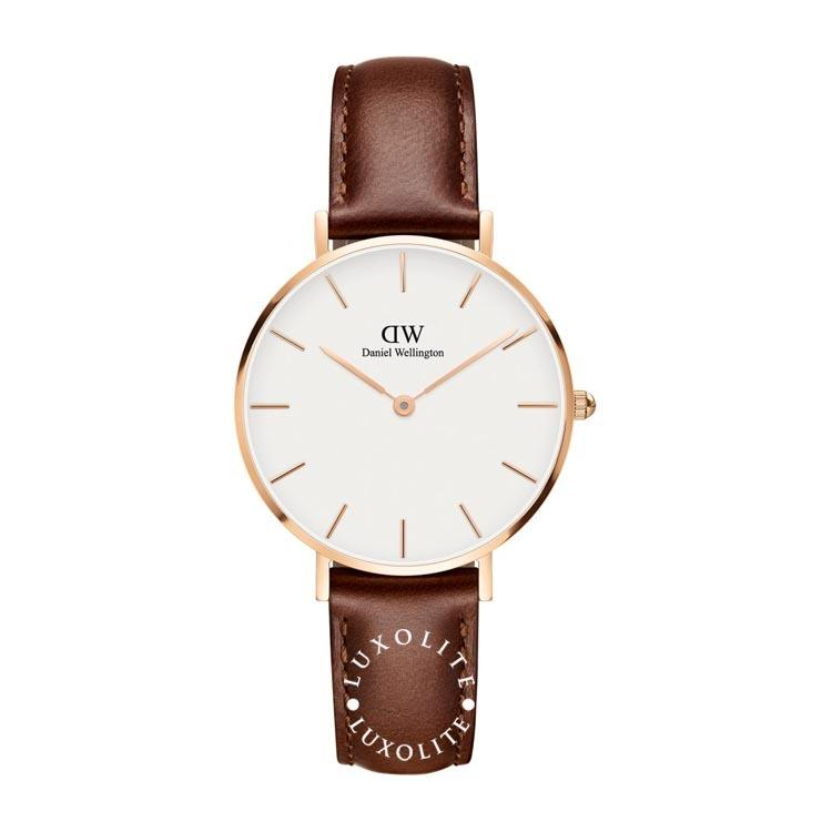 Daniel Wellington Classic Petite St Mawes Ladies 32Mm Rg Watch Dw00100175 In Stock