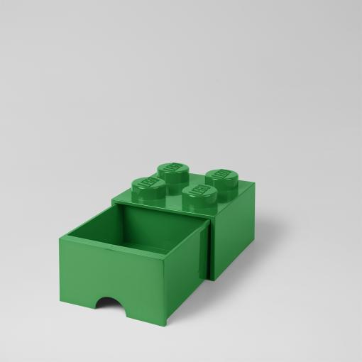 LEGO Storage Drawer Brick 4 (Dark Green)
