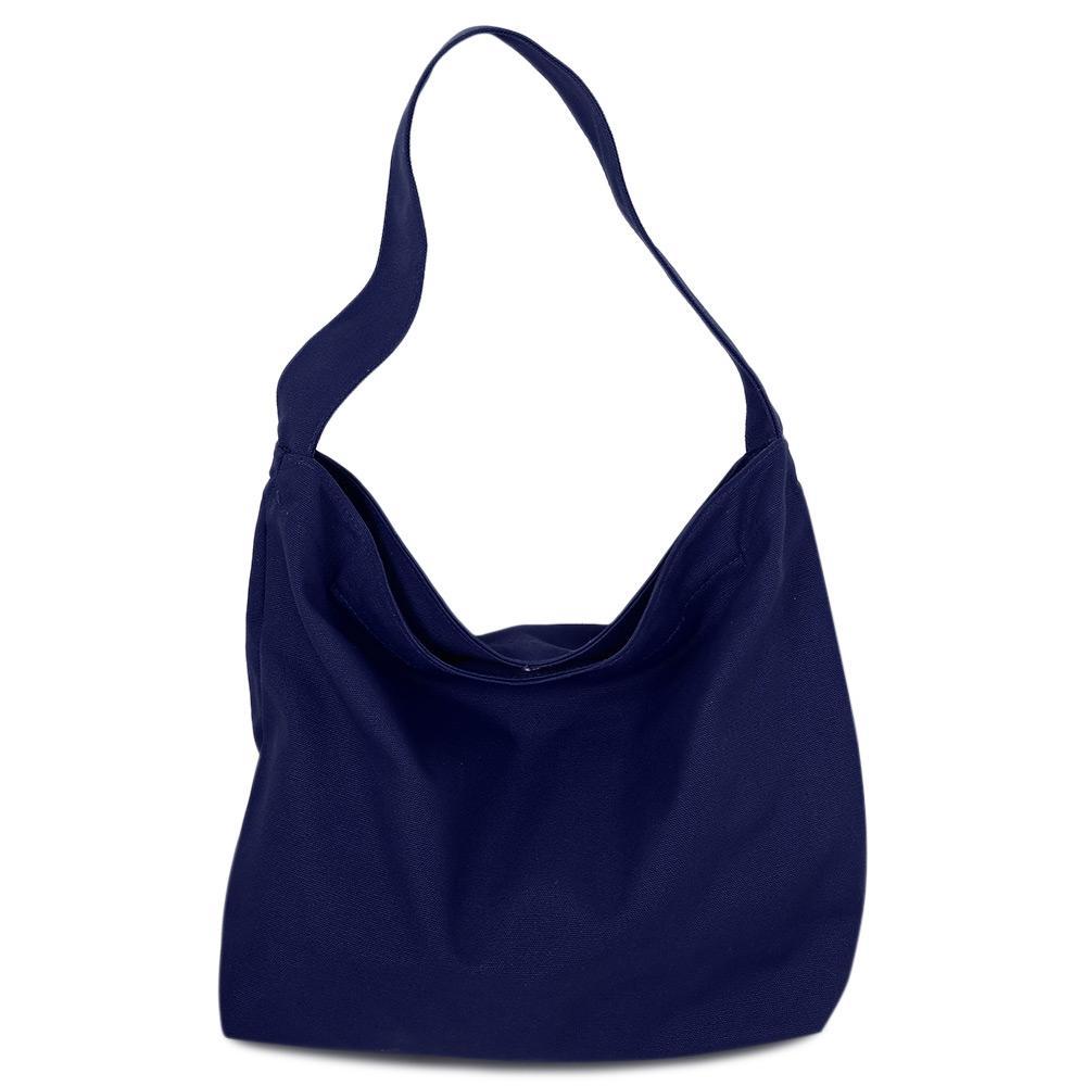 Sh G*rl Practical Solid Color Large Capacity Canvas Magnetic Button Travel Shopping Sch**l Shoulder Bag Black Black Intl For Sale Online