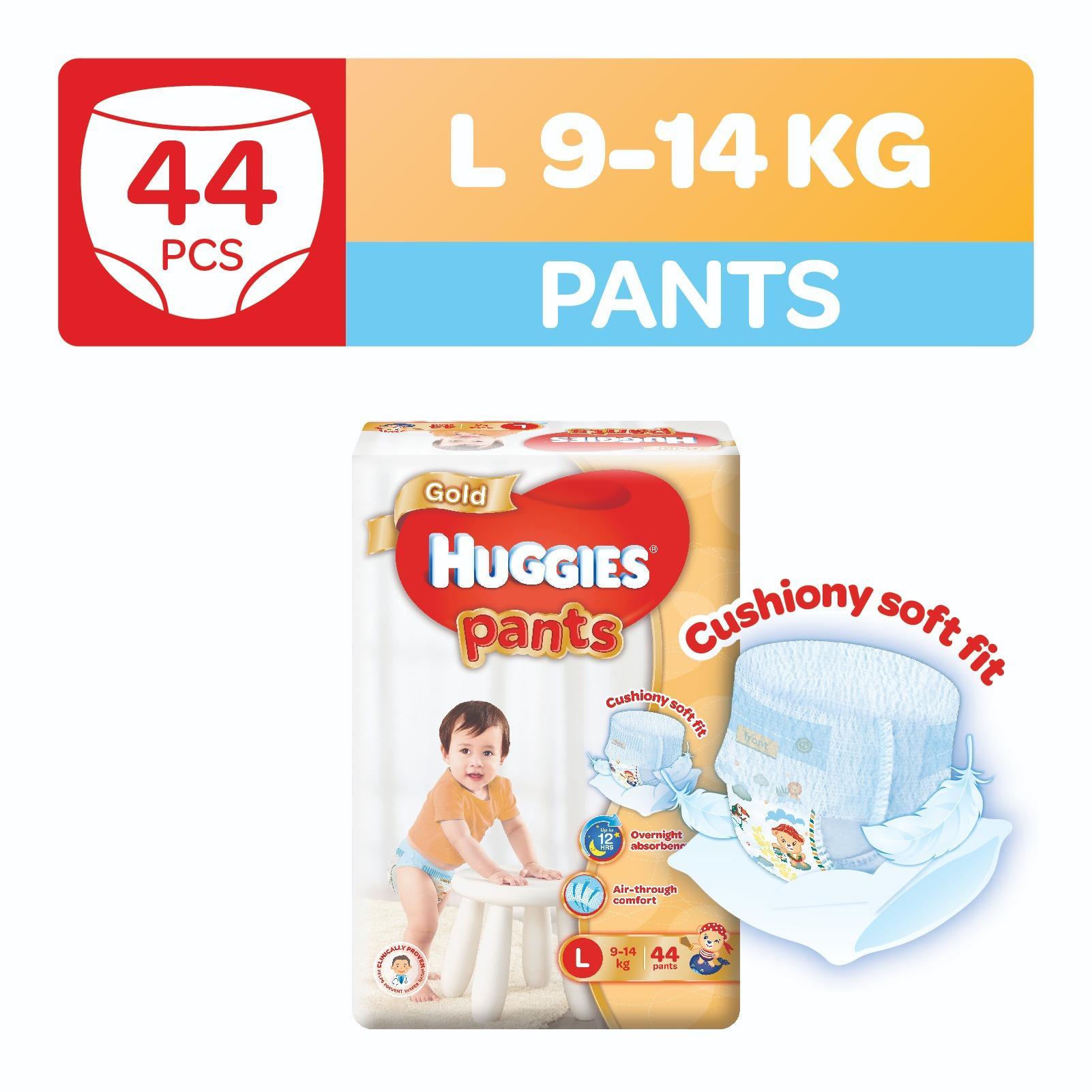 Brand New Huggies Gold Pullup Pants L 44Pcs