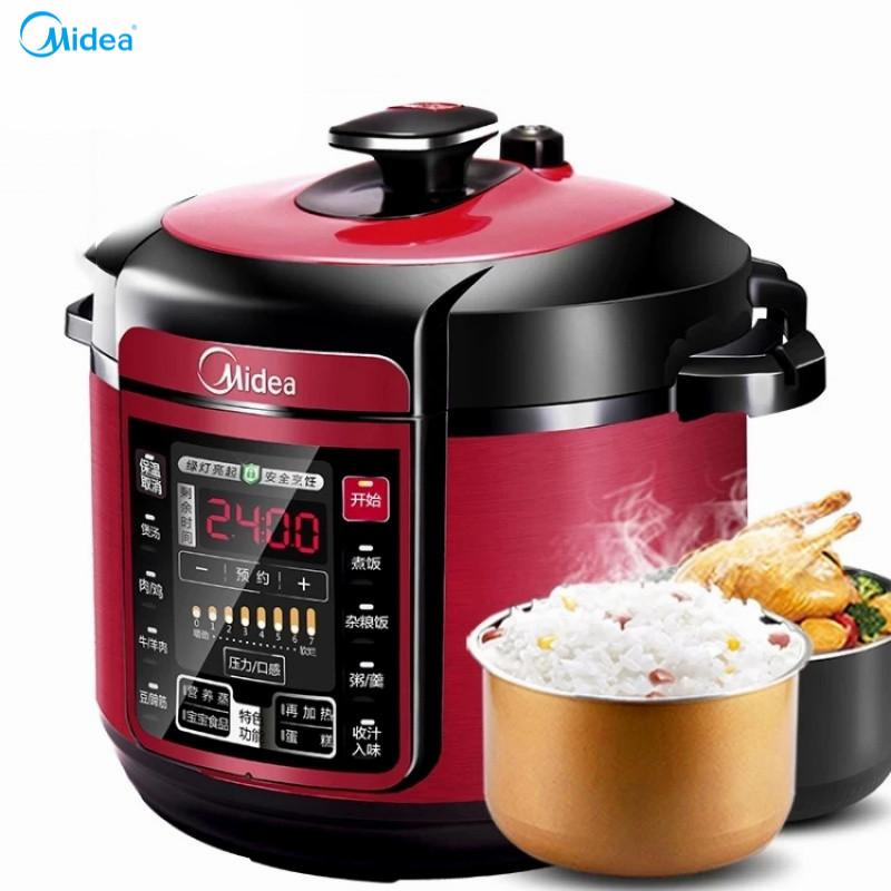 New Lahome Midea Wqc60A5 Electric Pressure Cooker Genuine Household Double Bile 6L Pressure Cooker Large Capacity 5 6 7 People