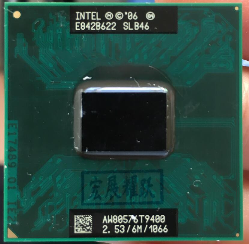 Intel Core 2 Duo T9400 CPU SLB46 Co Laptop Prosesor PGA 478 Cpu 100% Bekerja dengan Baik-Intl