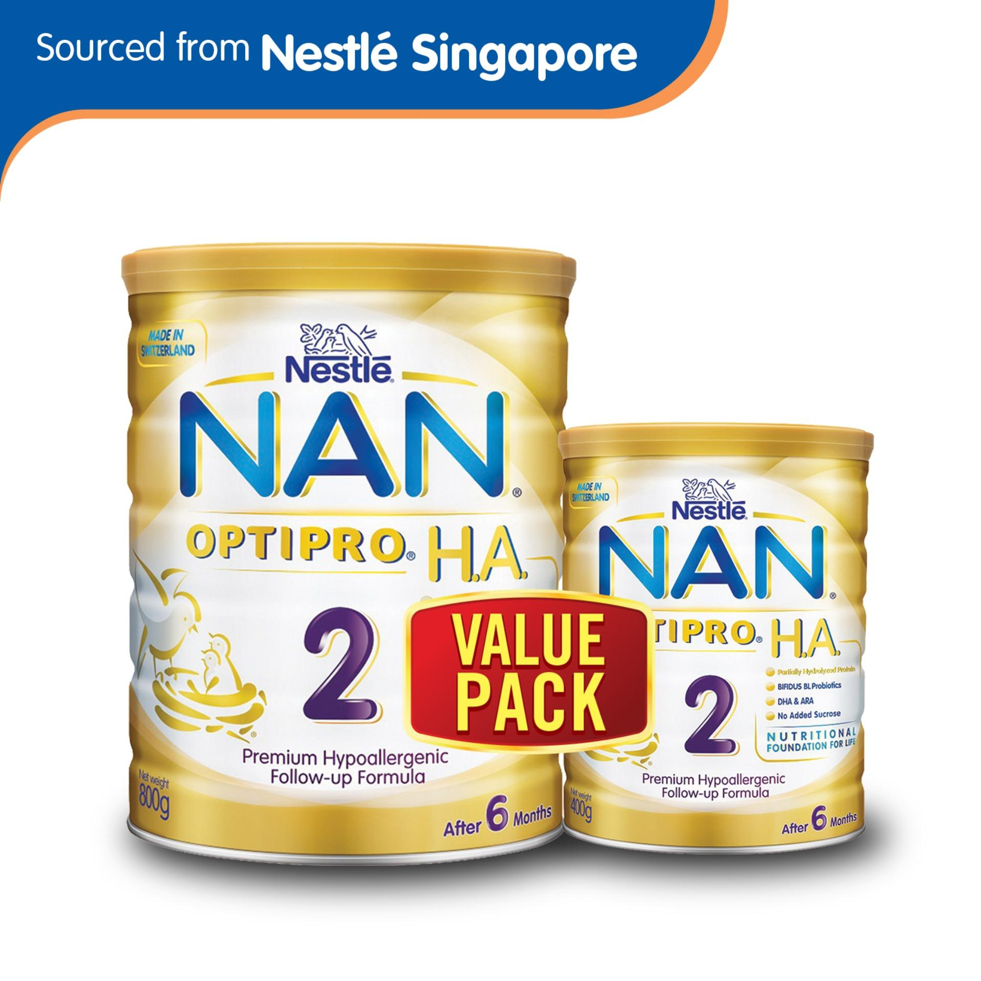 Nestle® Nan® Optipro® H A 2 Follow Up Formula 800G 400G Price Comparison