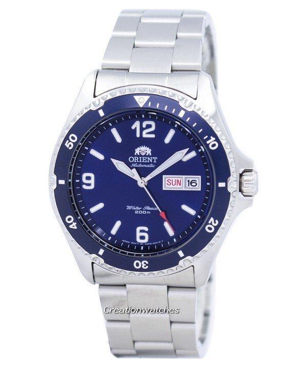 Buy Orient Mako Ii Automatic 200M Men S Silver Stainless Steel Bracelet Watch Faa02002D9 Cheap On Singapore