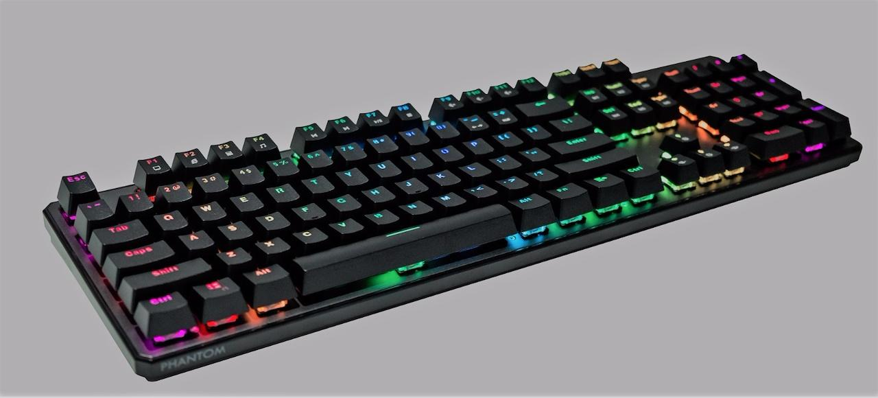 Phantom RGB Backlit Mechanical 104 Keys Keyboard Outemu Blue Switch