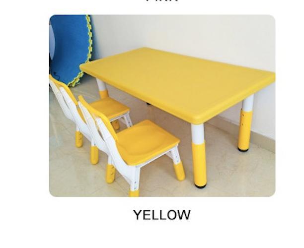 Loris Edition Adjustable Children study Table Set (1+4)