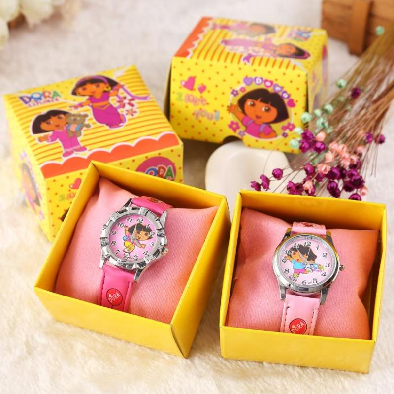 Factory direct boxed childrens watch wholesale custom Dora boxed cartoon watch a generation Malaysia