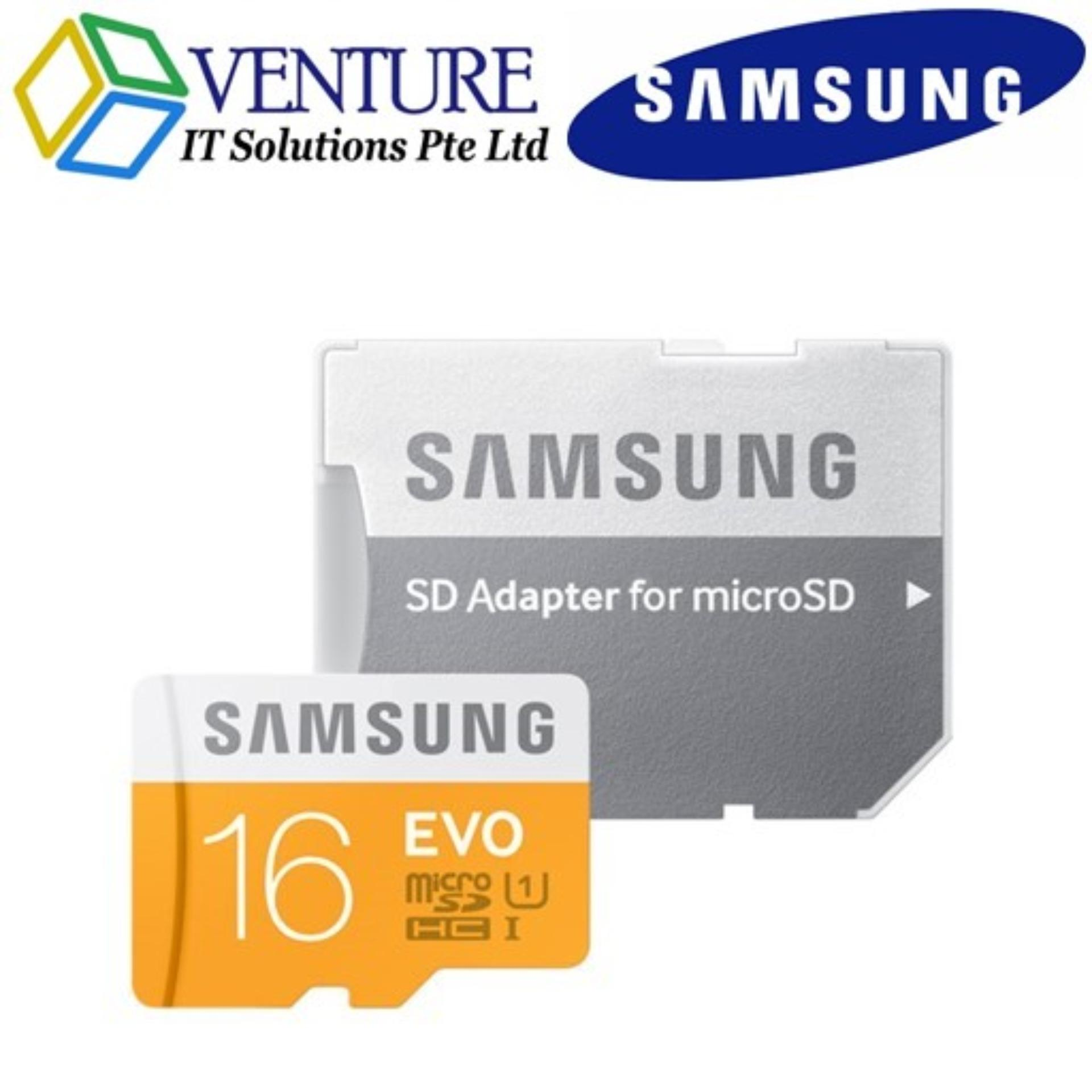 Price Brand New Samsung 16Gb Evo Microsdhc Uhs I Card With Sd Adapter Samsung Online