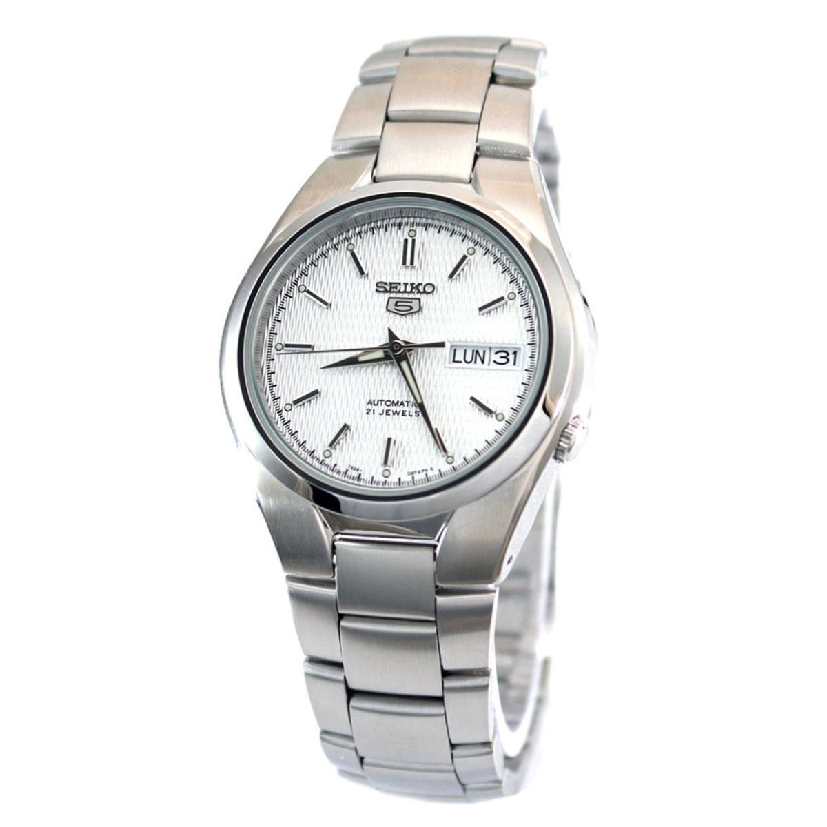 Latest Seiko Watch 5 Automatic Silver Stainless Steel Case Stainless Steel Bracelet Mens Snk601K1