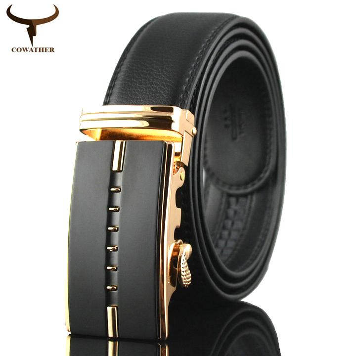 Cowather Men S Reversible Belt 100 Cow Leather Belts For Men Slide Ratchet Causal Automatic Buckle Waist Belts For Men Fashion Casual Jeans Dress Belts Trims To Fit On China