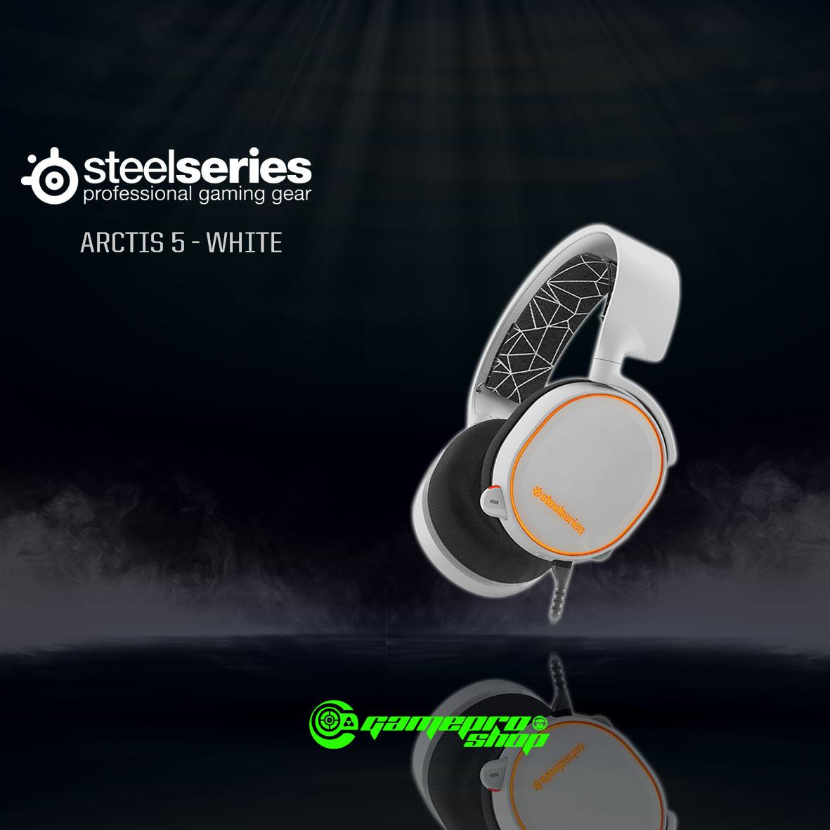 Price Comparison For Steelseries Arctis 5 Headphone White Gss Promo