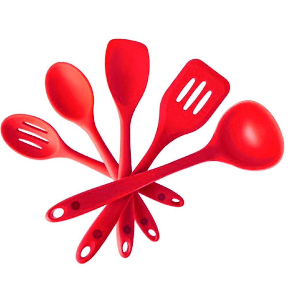 Buy Sell Cheapest Top Kitchen Set Best Quality Product Deals Fcenter 3 Pintu Ka 06 Kurry Cooking Utensils Spatulas Spoon Ladle Heatproof Red 1 Bar