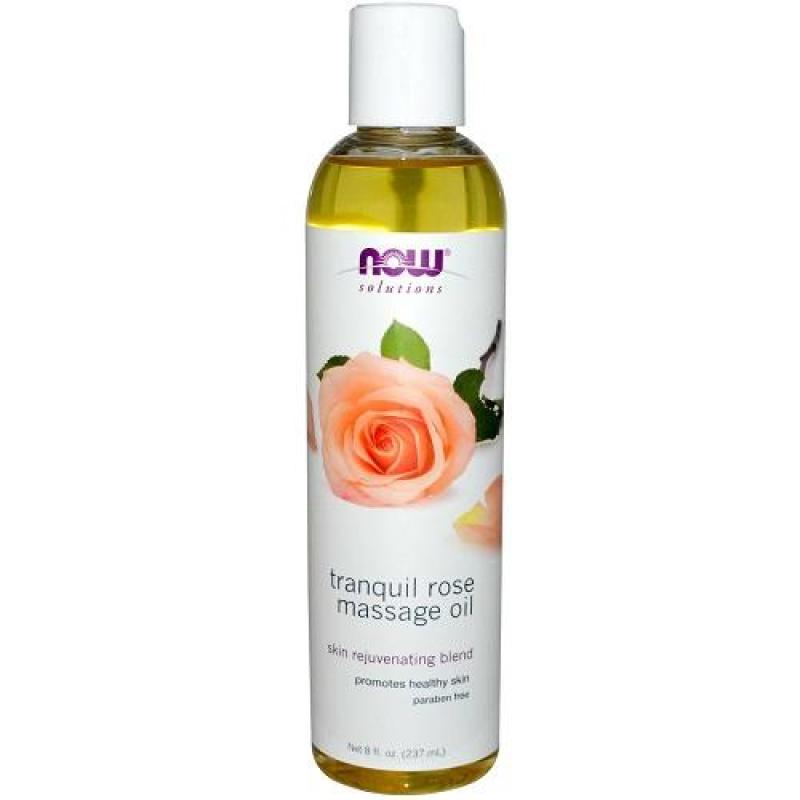 Buy Now Foods Solutions Tranquil Rose Massage Oil 8 fl oz (237 ml) Singapore