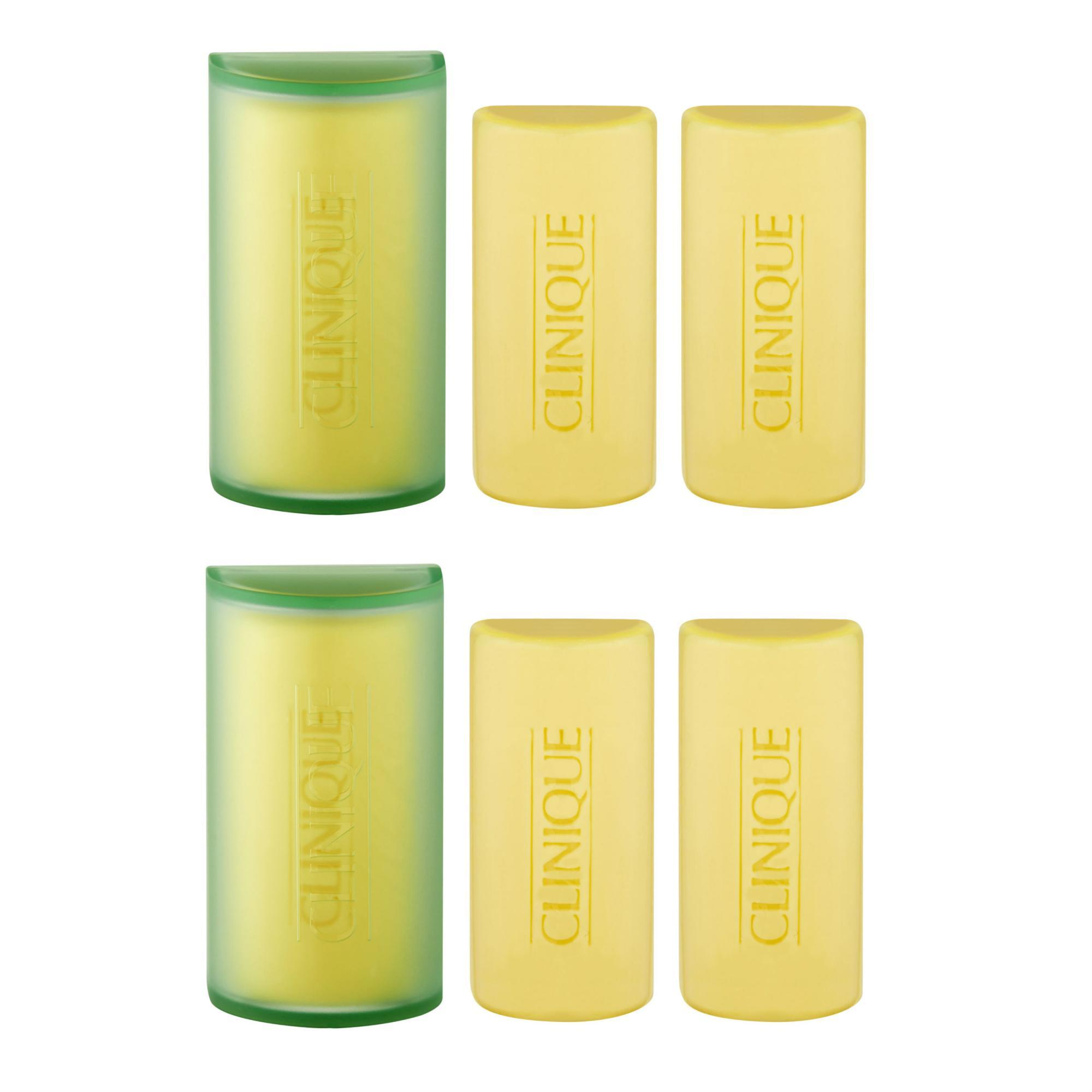 Best Deal Clinique 3 Little Soaps With Travel Dish Mild 1 Set 3Pcs 50G Each X 2 Intl