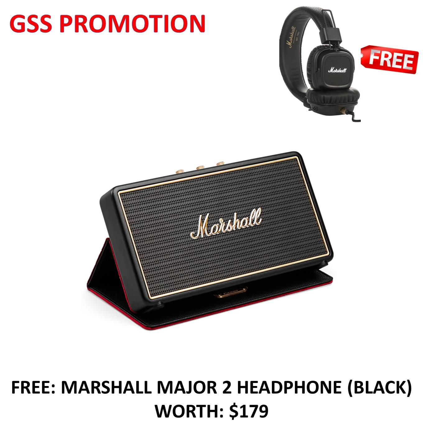 Purchase Marshall Stockwell Portable Bluetooth Speaker With Flipcase Free Major 2 Headphone