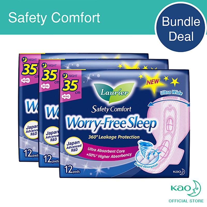 Laurier Safety Comfort Night Slim Wings 35Cm 12Pcs Triple Pack Promo Code