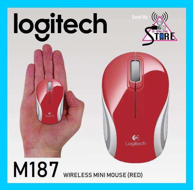 Recent Logitech M187 Wireless Mini Mouse Red