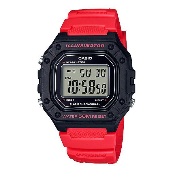 Casio Standard Digital Red Resin Band Watch W218H-4B W-218H-4B Malaysia