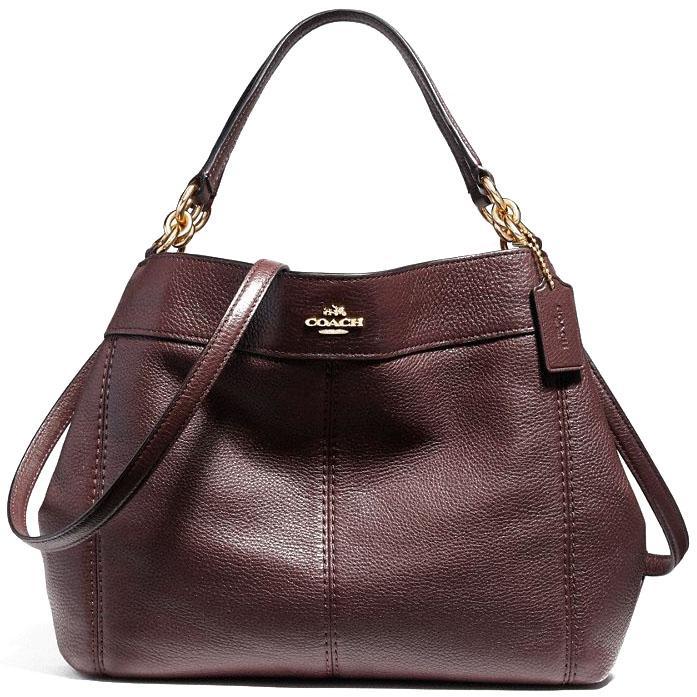 06bee7b906 Coach Small Lexy Shoulder Bag Handbag Imitation Gold   Oxblood 1   F23537