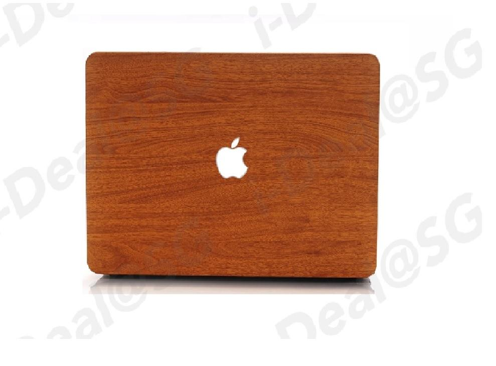 Wooden Brown Smooth Casing for Apple MacBook New Pro 13 with touchbar (A1706) /