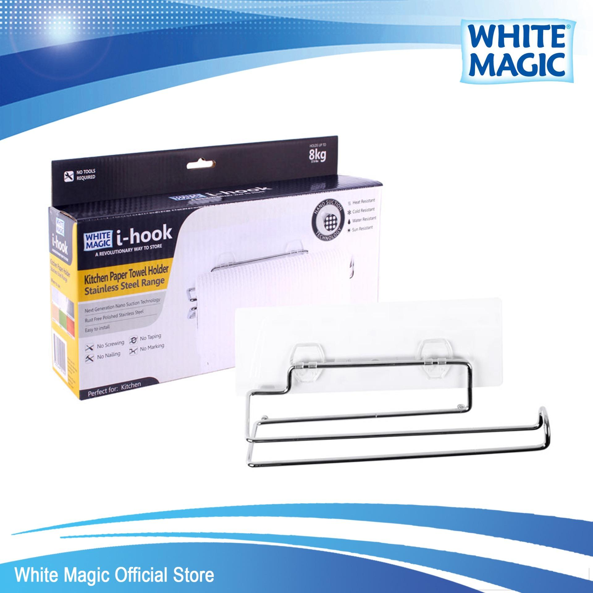 Discount White Magic I Hook Kitchen Paper Towel Holder White Magic On Singapore