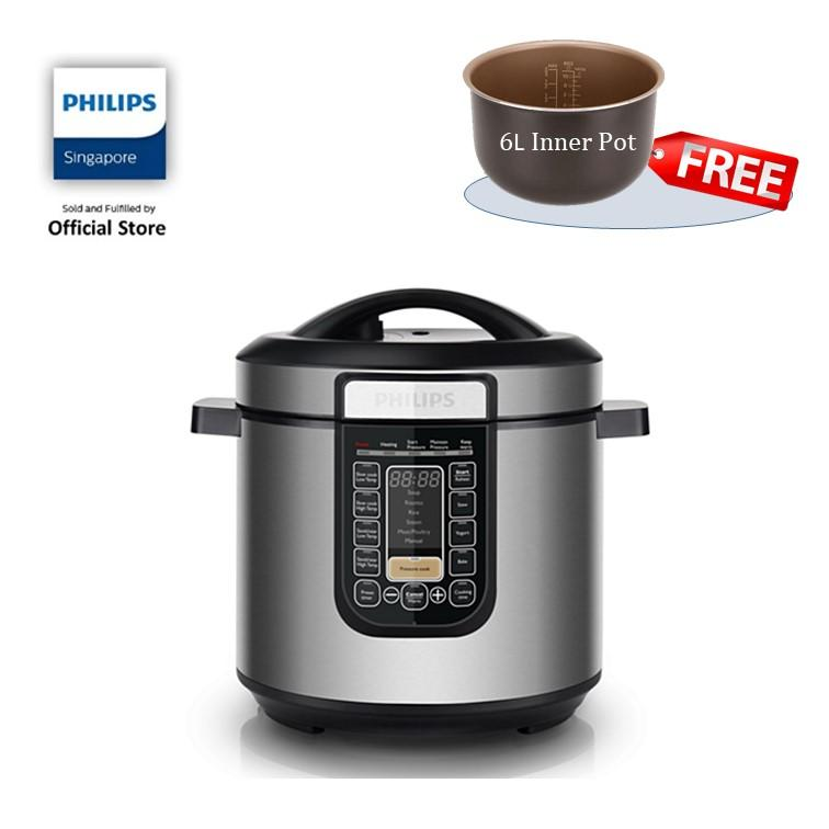 Sales Price Free 6L Inner Pot While Stock Last Philips Viva Collection All In One Cooker Hd2137 62